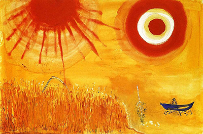 A Wheatfield on a Summer's Afternoon Marc Chagall