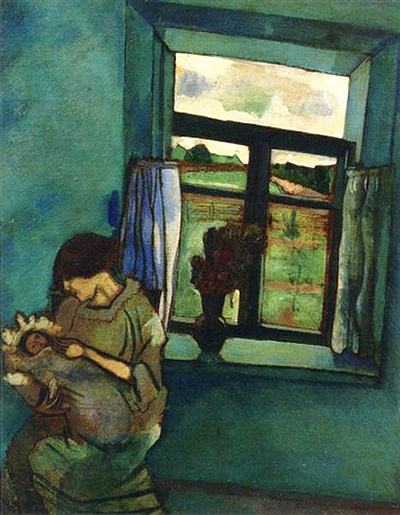 Bella and Ida by the Window Marc Chagall