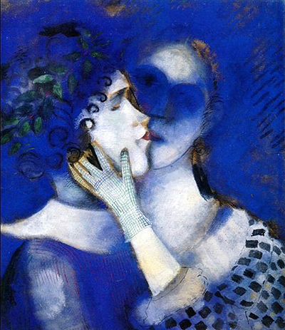Blue Lovers Marc Chagall