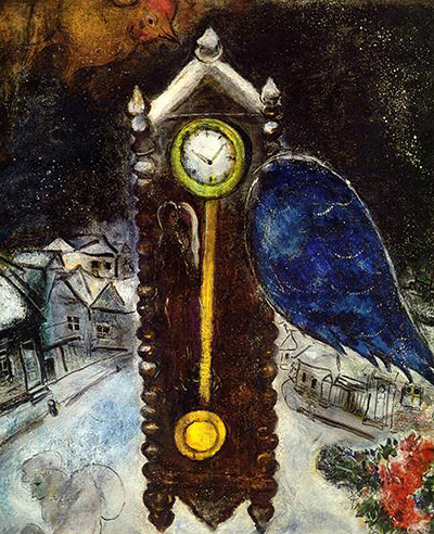 Clock with Blue Wing Marc Chagall