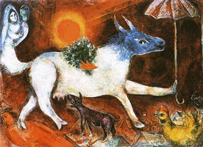 Cow with Parasol Marc Chagall
