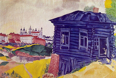 The Blue House Marc Chagall