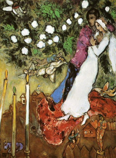 The Three Candles Marc Chagall