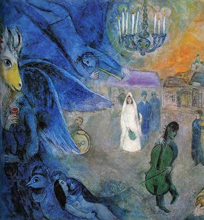 The Wedding Candles Marc Chagall