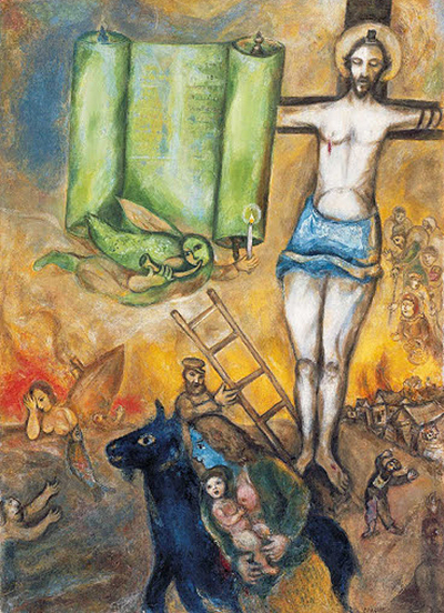 The Yellow Crucifixion Marc Chagall